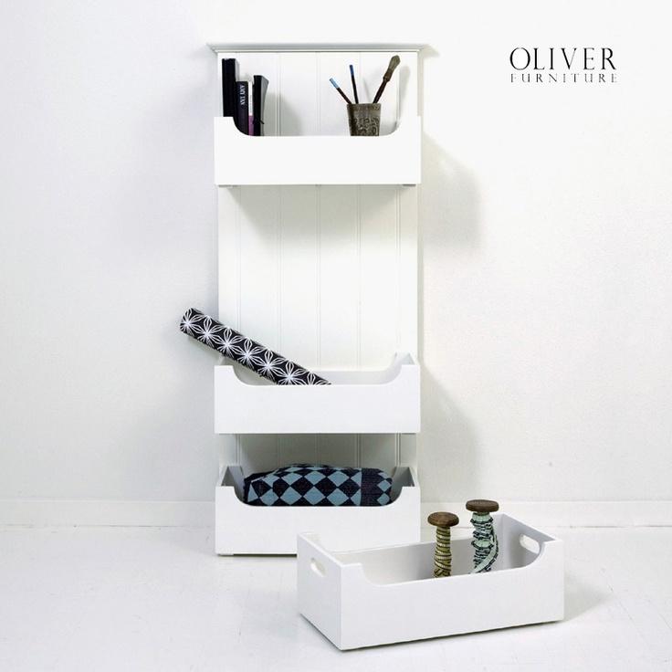 Opbergsysteem met houten bakken  oliver funiture