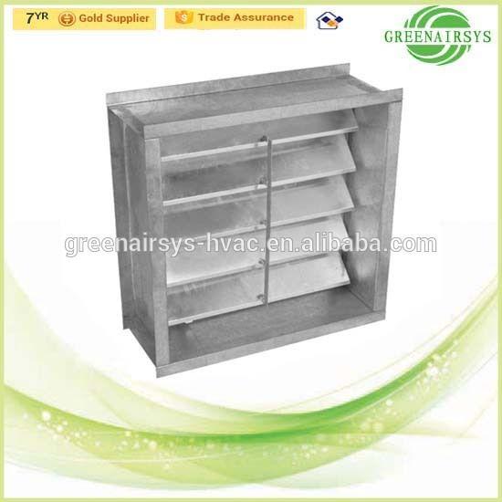Aluminum Automatically Non Return Shut-off Damper for Air Conditioning Ventilation