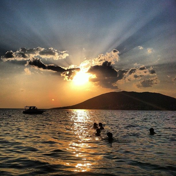 #rays #of #sun #clouds #sea #summer