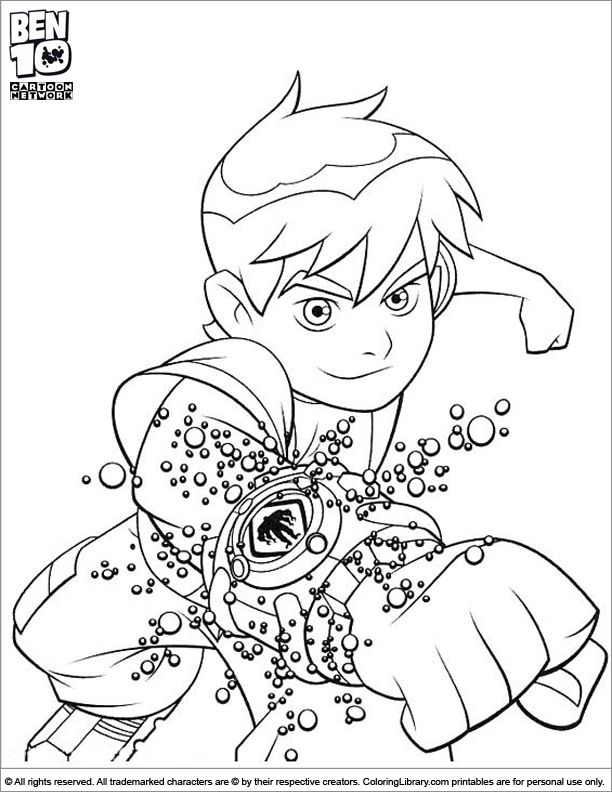 ben 10 coloring page for boys - Boys Coloring Pictures