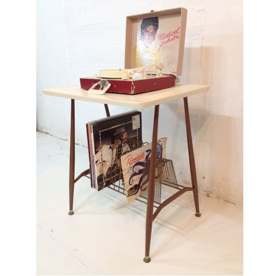Record Player Stand Mid Century Modern TV Table by TheDirtyLoft, $65.00