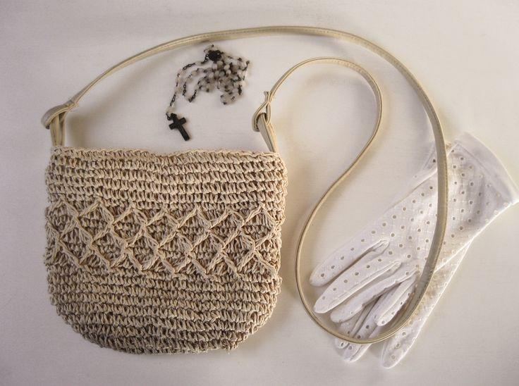 vintage Handtasche, Tasche, beige, shabby chic von Alleswirdgut--- auf DaWanda.com
