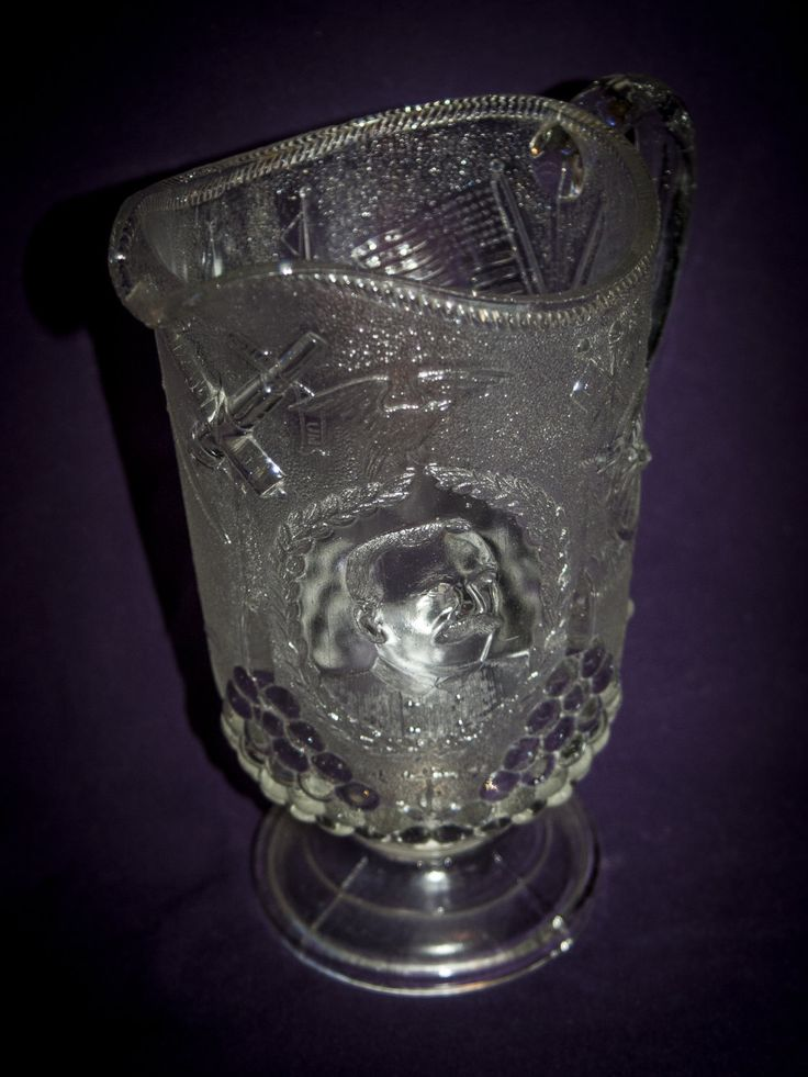 "Original 1898 EAPG Flint Glass ""Admiral George Dewey"" Commemorative Pitcher by WNYTradingCo on Etsy"