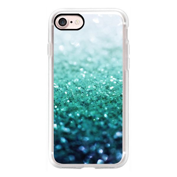 FROZEN ICE TEAL iphone 5s / 5 - iPhone 7 Case, iPhone 7 Plus Case,... ($40) ❤ liked on Polyvore featuring accessories, tech accessories, phone cases, phones and iphone grip case