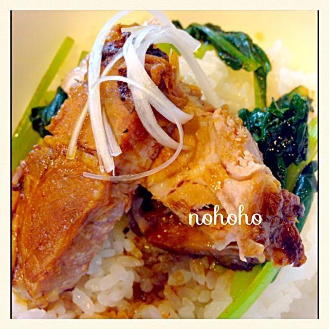 レシピとお料理がひらめくSnapDish - 18件のもぐもぐ - 厚切りチャーシューと小松菜キムチ丼 by nohoho