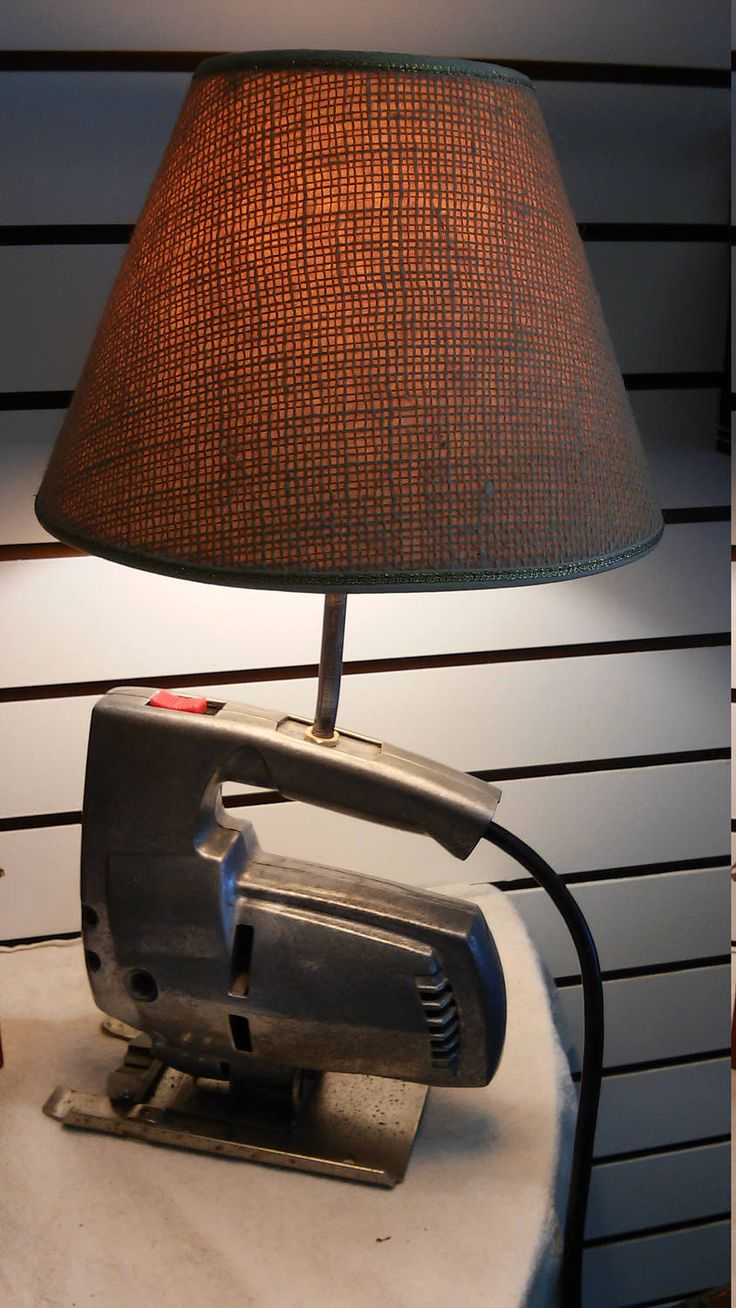 Steampunk Industrial Light Fixture Vintage Steel Jigsaw