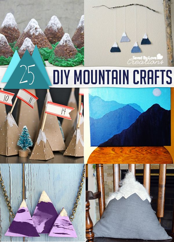 Best 25 mountain crafts ideas on pinterest mountain art for Diy mountain mural