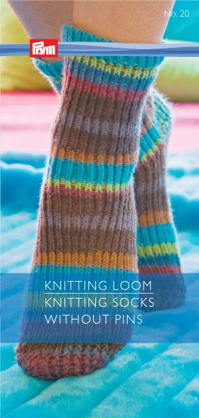 Knitting loom, knitting socks without pins, for more languages click here: http://www.prym-consumer.com/prym/proc/docs/0H0H004e2.html?nav=0H0H007iz
