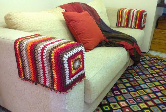 Agulhas e Pinceis: Protetor de crochê para braço de sofá