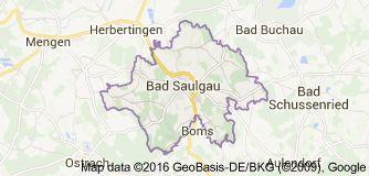Karte von Bad Saulgau Deutschland
