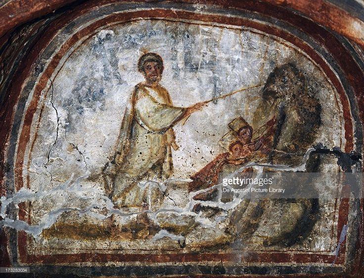 4th Century Fresco Catacombs Of Comodilla Rome Lazio Italy Catacombs Early