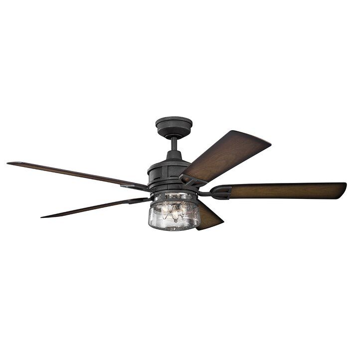 60 Pakwa 5 Blade Outdoor Ceiling Fan Light Kit Included In 2020