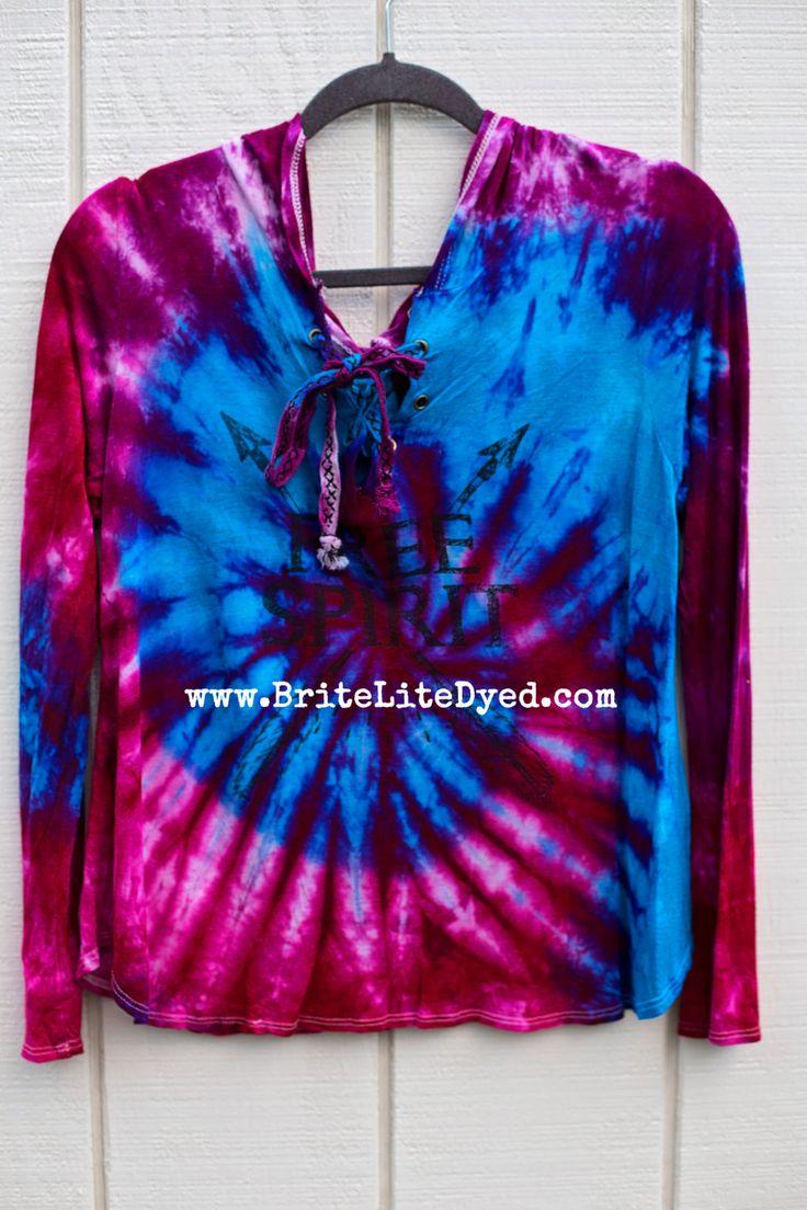 "Tie Dye Rayon Blouse XL ""Free Spirit""  , Tie Dye Shirt, Hippie Shirt, Boho Clothing, Festival Clothing, Hippy Clothing, Carnival Clothing by BriteLiteDyed on Etsy"