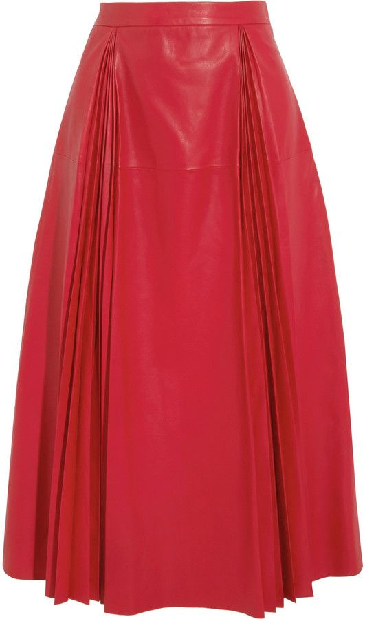 Gucci Pleated leather skirt                                                                                                                                                                                 More