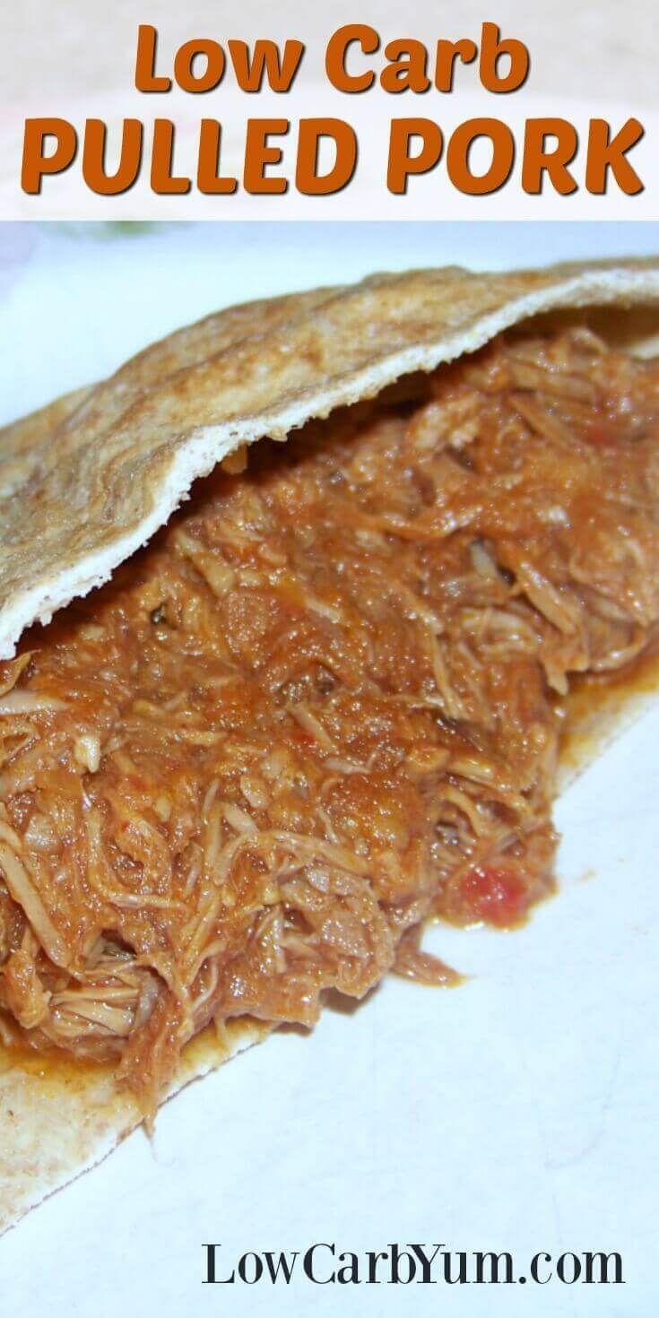 Low Carb Pulled Pork Sandwich – No Sugar Added via @lowcarbyum
