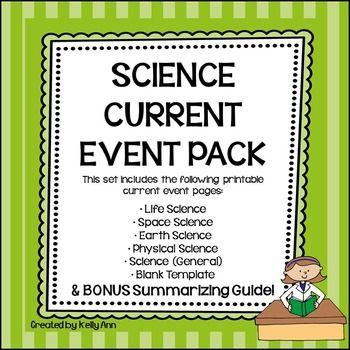 Science Current Event Pack**This product has been updated to include a BONUS Summarizing Guide!**Please see the FULL PREVIEW!If…