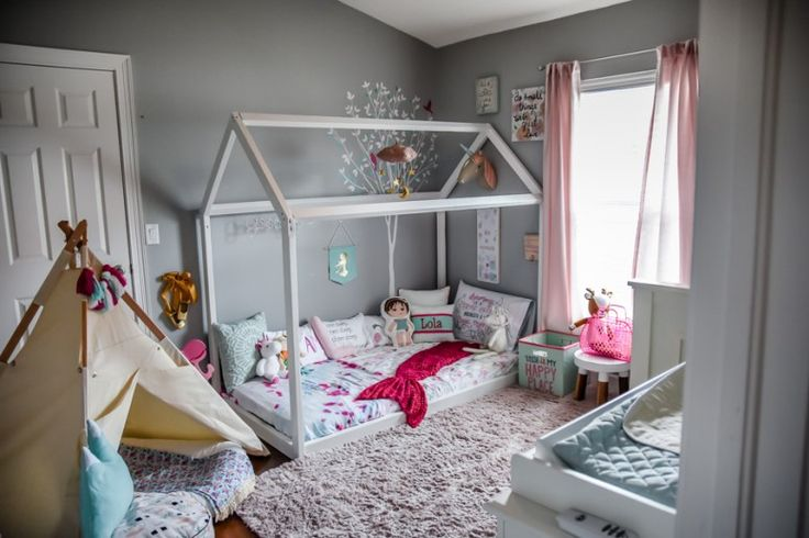 DIY House Frame Floor Bed Plan - Oh Happy Play