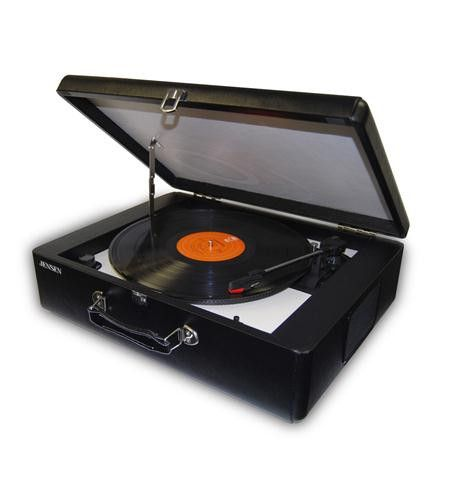Spectra Merchandising JEN-JTA-420 Portable Turntable with Built-in Speaker