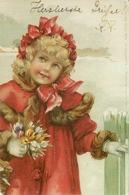 Картинки, винтажные рождественские открытки карл фиертаг