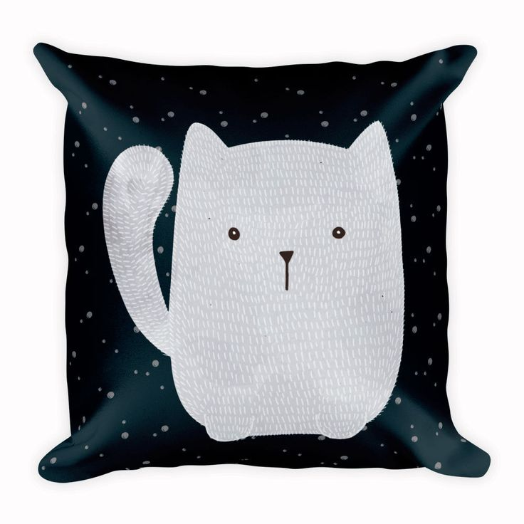 Cute Cat Cushion, Animal Pillow, Home Decor, 18x18 inch by CozyDesignCo on Etsy