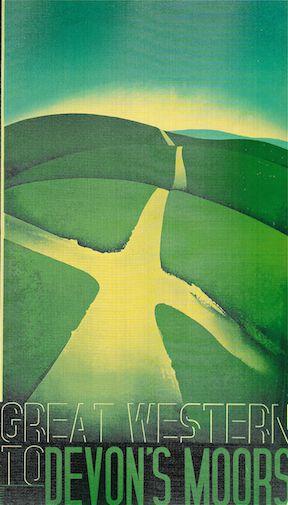 Great Western Railway poster by Edward Mcknight Kauffer 1933