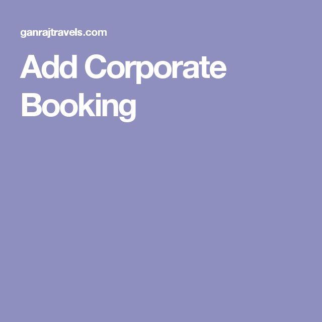 Add Corporate Booking