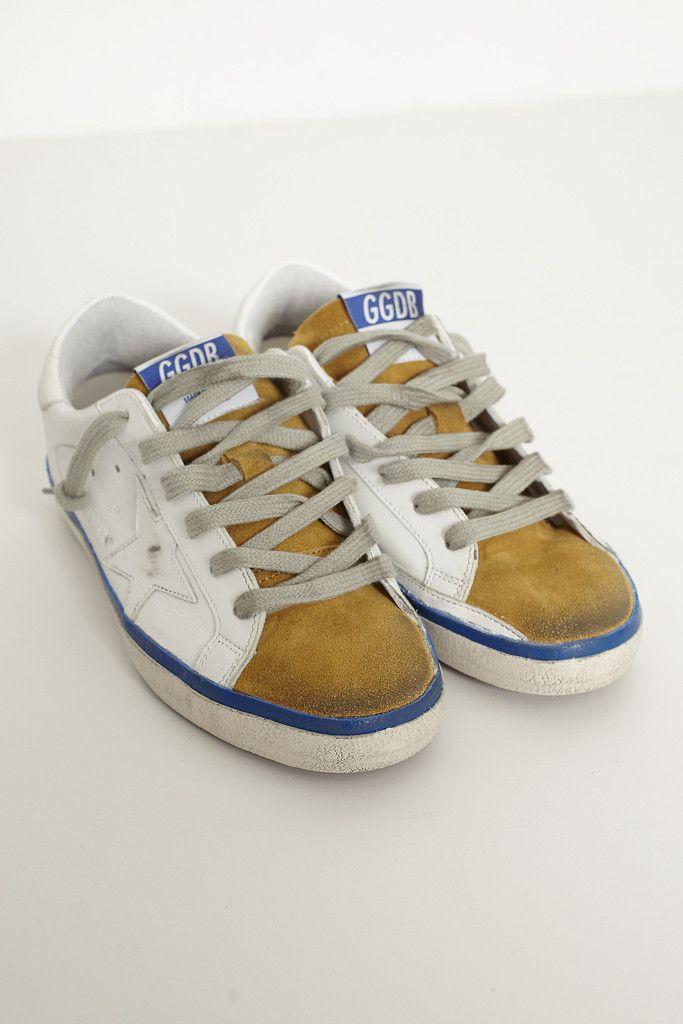 White and Mustard Superstar Sneaker From ShopHeist.com!