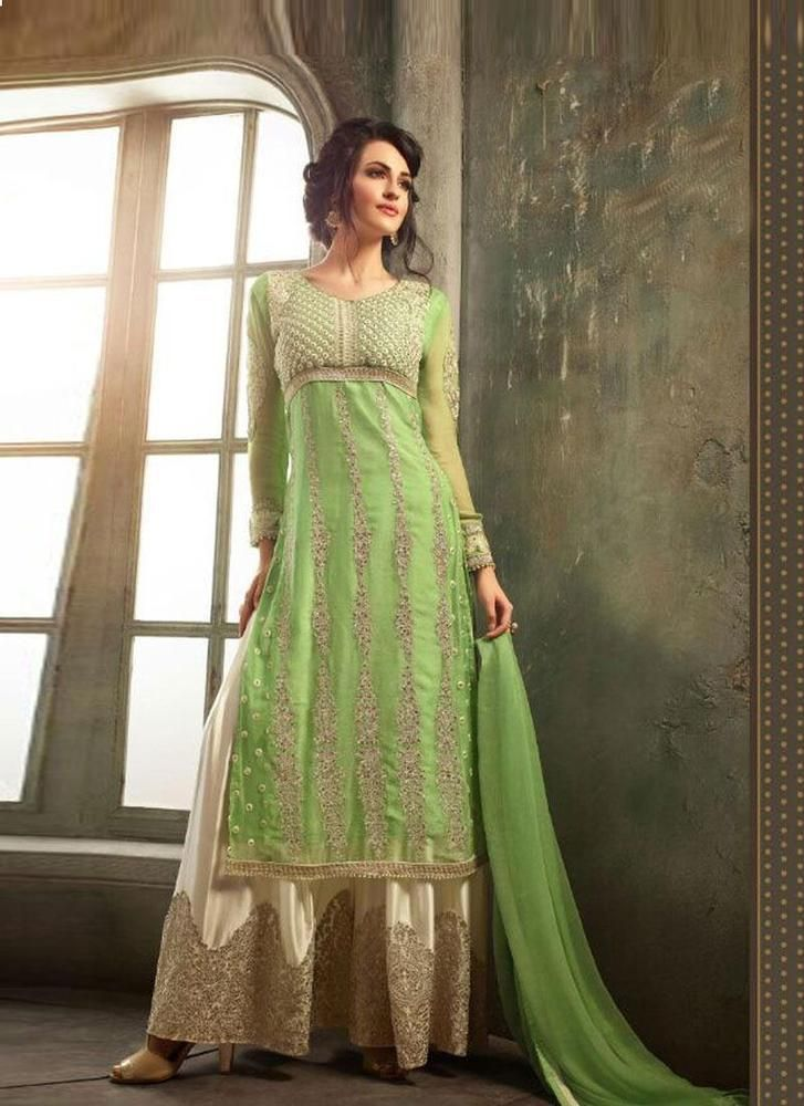 Indian Salwar Kameez Designer Suit New Anarkali Ethnic Bollywood Pakistani Dress #Tanishifashion #Designer