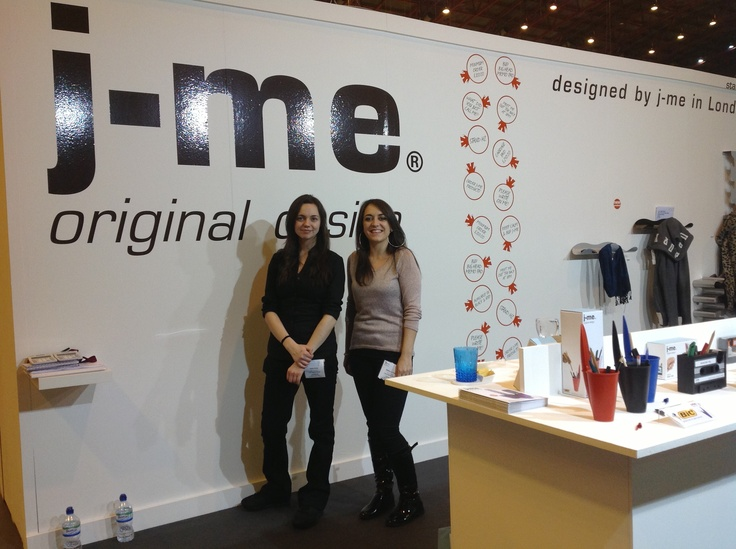 J-Me with their products at HOme 2013