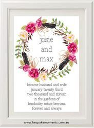 Birds Of A Feather Wedding Print by Bespoke Moments. Worldwide Shipping Available.