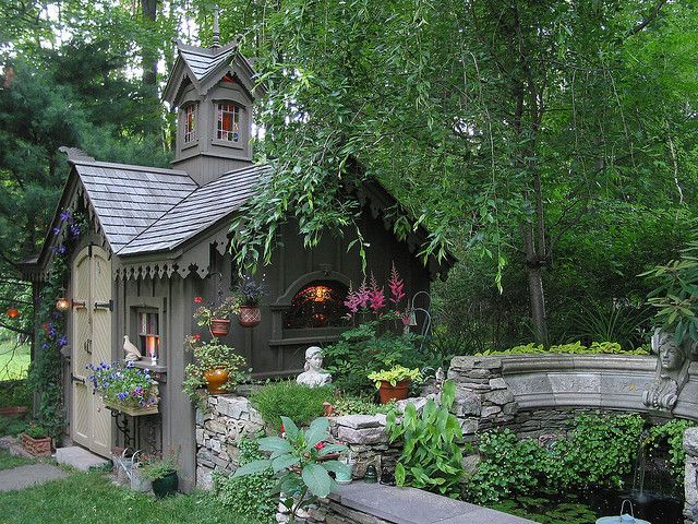 i just love garden sheds that go beyond the everyday sheds that mimic tiny homes and can be used as outdoor getaways
