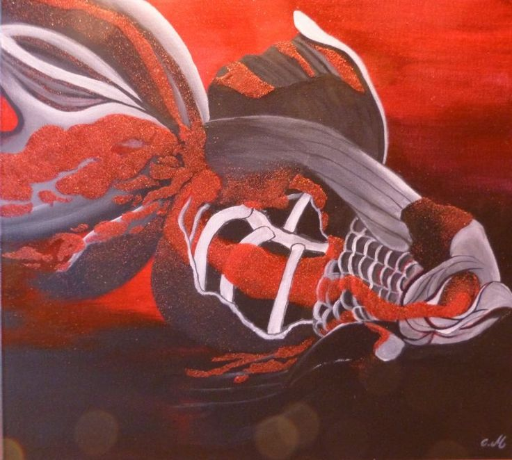 Mirabela Ioana Cadar: Zombi Fish (2012). Acrilico su tela
