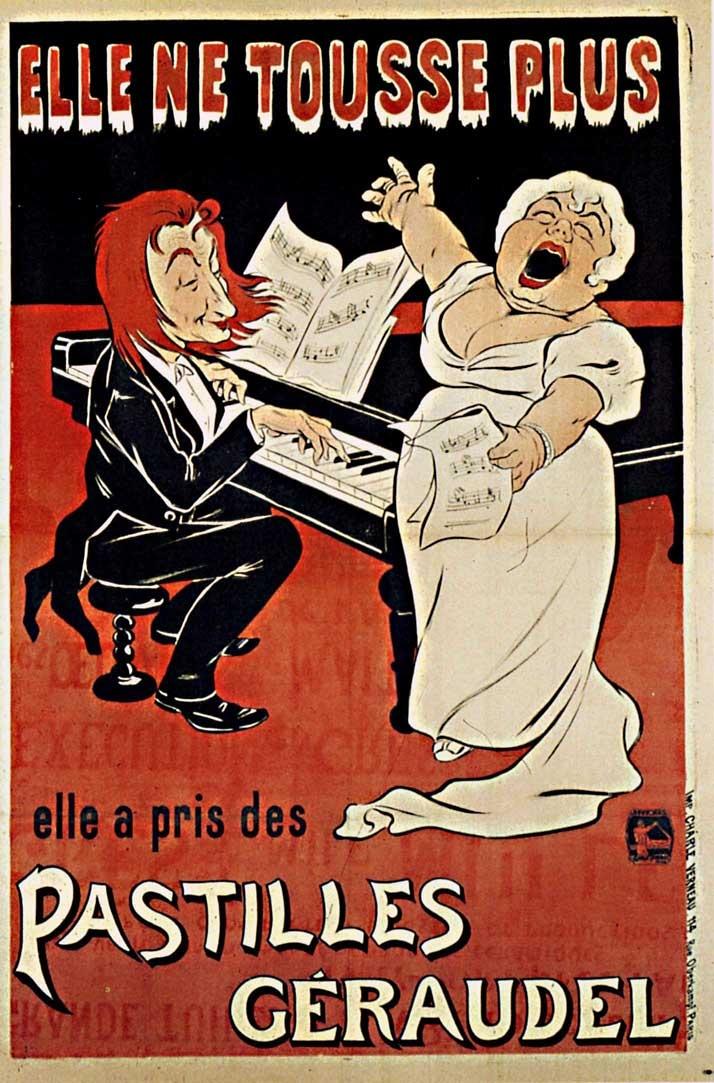 1899 Eugène Ogé Pastille Géraudel, Affiche lith. en couleurs, 95x63 cm