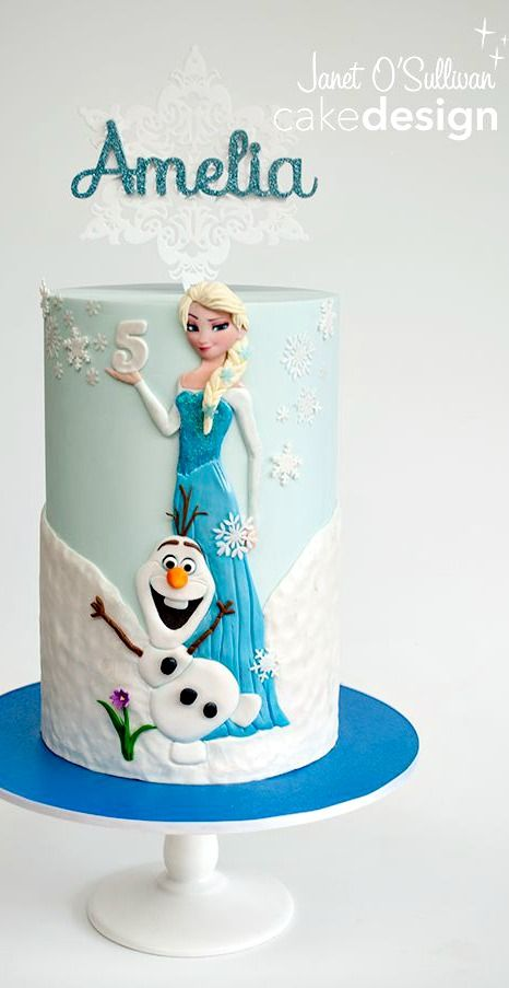 Frozen Themed Princess Elsa Cake - For all your cake decorating supplies, please visit craftcompany.co.uk