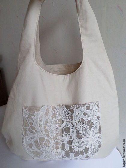 Женские сумки ручной работы. Ярмарка Мастеров - ручная работа. Купить Сумка торба Шампанское. Handmade. Белый, кружевная сумка