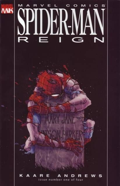 The cover to Spider-Man: Reign #1 (2006), art by Kaare Andrews