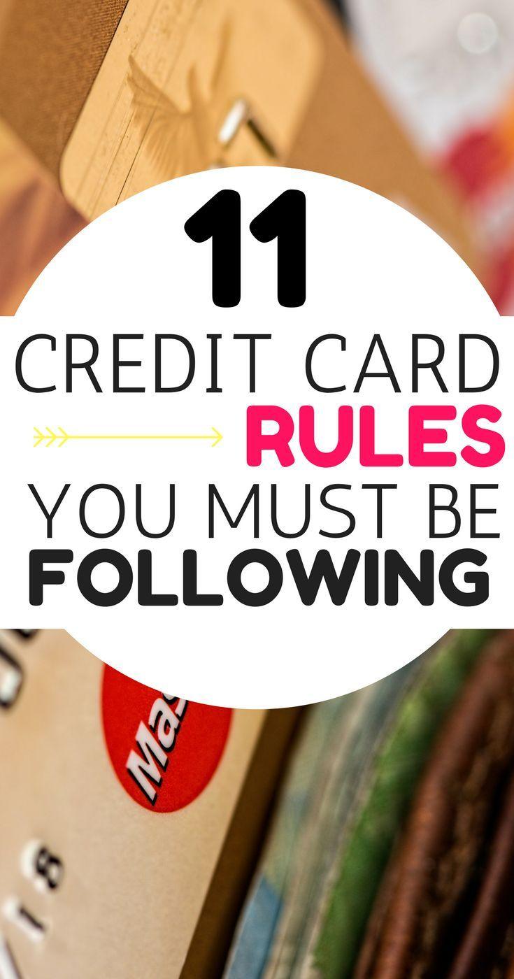 11 Credit Card Rules You Should Follow Balance Transfer Credit Cards Credit Card Payoff Plan Credit Cards Debt