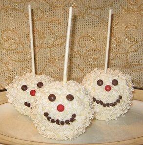 Snowman candy apples a fun amp easy kids recipe home
