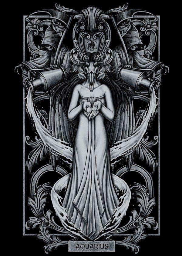 Знаки зодиака мрачные картинки