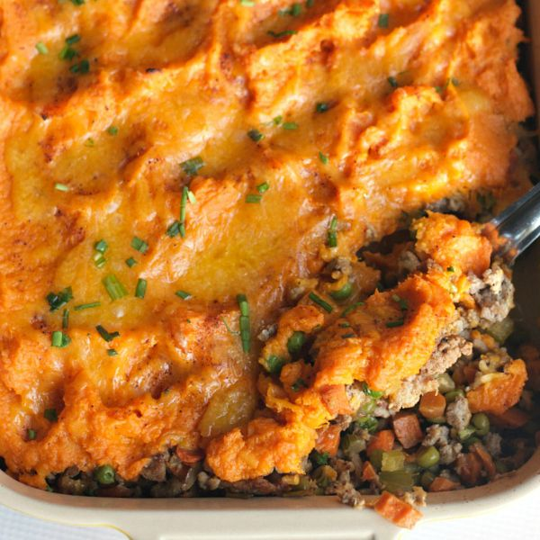 Enjoy this cheesy Shepherd's Pie with Cheese Recipe, made with two different…
