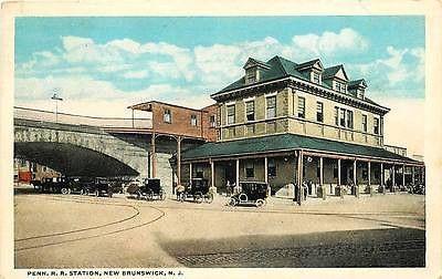 New Brunswick New Jersey NJ 1915 Pennsylvania Railroad Station Vintage – Moodys Vintage Postcards