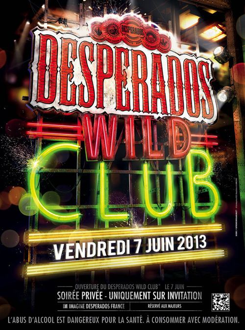 Neon Light Portrait On Behance: Desperados Wild Club 2013 On Behance