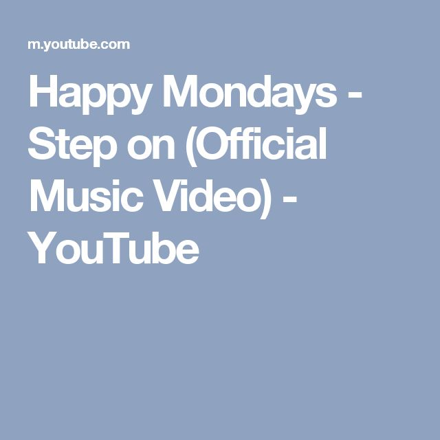 Happy Mondays - Step on (Official Music Video) - YouTube
