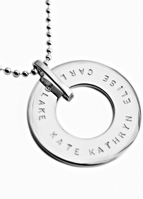The JULIA pendant is the same shape as the Isobel pendant. The difference is that the koolaman designs JULIA pendant can fit up to 38 characters around the pendant. ISOBEL pendant has been very popular in 2009 and we've relaunched it for 2010 with a different font. The smaller font allows for more characters. The jump ring on this pendant is not fixed and allows the pendant to spin. The pendant measures 3.0cm (h) x 3.0(w). $210.00 http://www.koolamandesigns.com.au/shop/julia-p-694.html