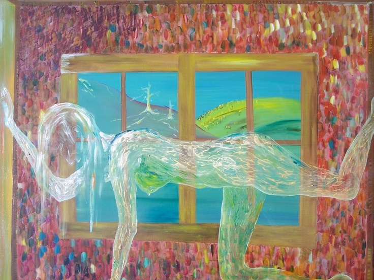 Julie Proudfoot - Oil on Canvas - 48x60 inches 'Suffocate'