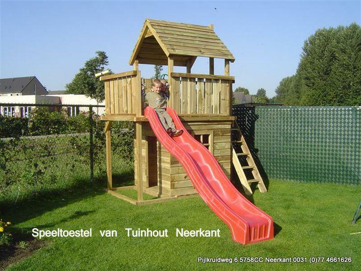 Speeltoestel met balkon Tuinhout Neerkant