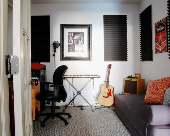 Inspiring Home Recording Studio Design: Industrial Home Recording Studio Design Idea With Small Sofa And Working Table ~ dropddesign.com Decorating Inspiration