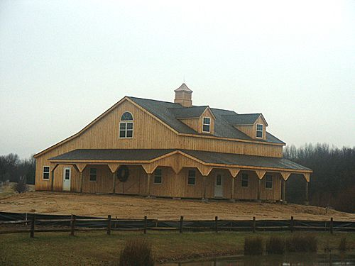 post frame building by keystone barns via flickr