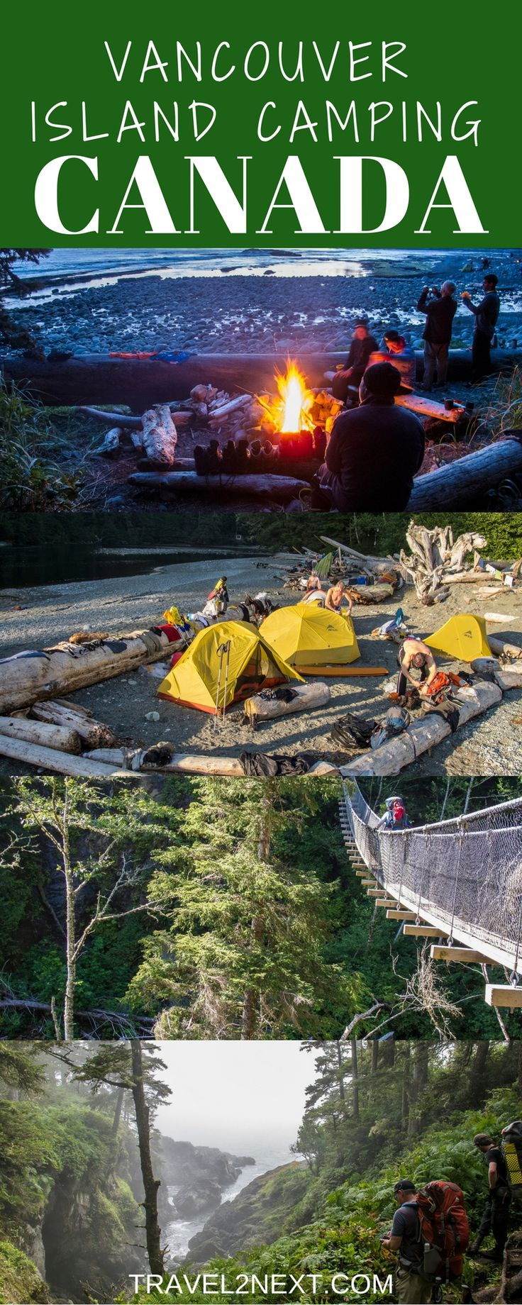 Camping Vancouver Island, British Columbia, Canada. Whale watching, birding and bear watching are only some of the things that attracttravellers to Vancouver Island.