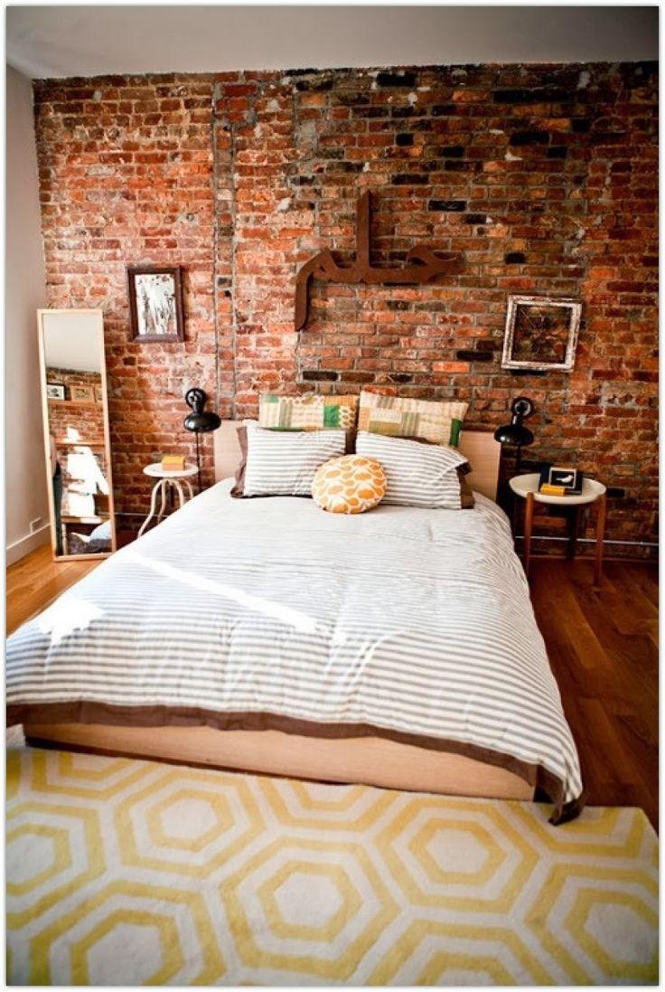 16 Beautiful Exposed Brick Wall Bedroom Ideas